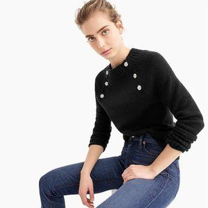 NWT J. Crew Sweater with Jewelled Buttons
